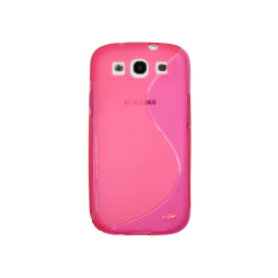 Samsung Galaxy S3 - Gumiran ovitek (TPU) - roza-prosojen SLine