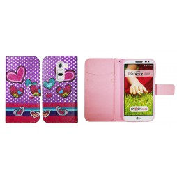 LG G2 mini - Preklopna torbica (WLGP) - Dots&hearts