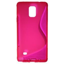 Samsung Galaxy Note 4 - Gumiran ovitek (TPU) - roza-prosojen SLine