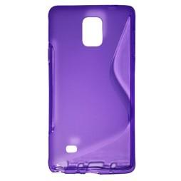 Samsung Galaxy Note 4 - Gumiran ovitek (TPU) - vijolično-prosojen SLine