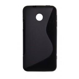 Huawei Ascend Y330 - Gumiran ovitek (TPU) - črn SLine