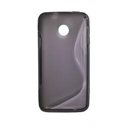 Huawei Ascend Y330 - Gumiran ovitek (TPU) - sivo-prosojen SLine