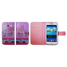 Samsung Galaxy Core - Preklopna torbica (WLGP) - Dots&hearts
