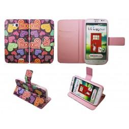 LG L90 - Preklopna torbica (WLGP) - Colorful hearts