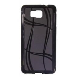 Samsung Galaxy Alpha - Gumiran ovitek (TPU) - črn WLine