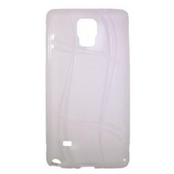 Samsung Galaxy Note 4 - Gumiran ovitek (TPU) - belo-prosojen WLine