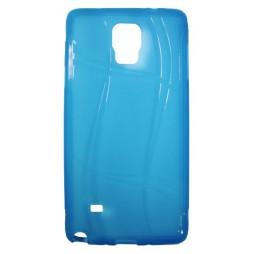 Samsung Galaxy Note 4 - Gumiran ovitek (TPU) - modro-prosojen WLine