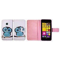 Nokia Lumia 530 - Preklopna torbica (WLGP) - Blue owl