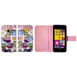 Nokia Lumia 530 - Preklopna torbica (WLGP) - Colorfull owls