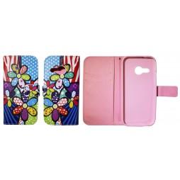 HTC One Mini 2 - Preklopna torbica (WLGP) - Colorfull flowers
