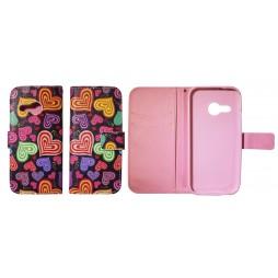 HTC One Mini 2 - Preklopna torbica (WLGP) - Colorfull hearts