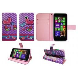 Nokia Lumia 630/635 - Preklopna torbica (WLGP) - Dots&hearts
