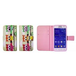 Samsung Galaxy Core 2 - Preklopna torbica (WLGP) - Owls