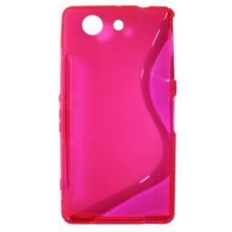 Sony Xperia Z3 Compact/Mini - Gumiran ovitek (TPU) - roza-prosojen SLine