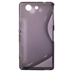 Sony Xperia Z3 Compact/Mini - Gumiran ovitek (TPU) - sivo-prosojen SLine