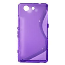 Sony Xperia Z3 Compact/Mini - Gumiran ovitek (TPU) - vijolično-prosojen SLine