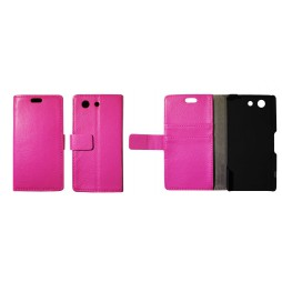 Sony Xperia Z3 Compact/Mini - Preklopna torbica (WL) - roza