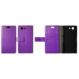 Sony Xperia Z3 Compact/Mini - Preklopna torbica (WL) - vijolična
