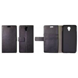 Alcatel Idol 2 - Preklopna torbica (WLG) - črna