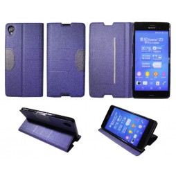 Sony Xperia Z3 - Preklopna torbica (47G) - modra