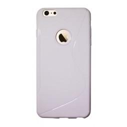 Apple iPhone 6Plus/6SPlus - Gumiran ovitek (TPU) - bel SLine