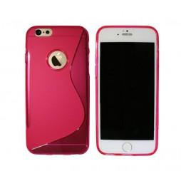 Apple iPhone 6Plus/6SPlus - Gumiran ovitek (TPU) - roza-prosojen SLine