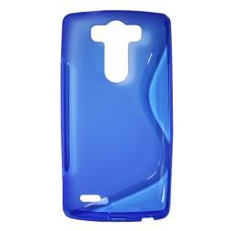 LG G3 S - Gumiran ovitek (TPU) - modro-prosojen SLine