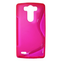 LG G3 S - Gumiran ovitek (TPU) - roza-prosojen SLine