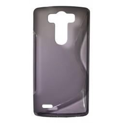 LG G3 S - Gumiran ovitek (TPU) - sivo-prosojen SLine