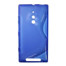 Nokia Lumia 830 - Gumiran ovitek (TPU) - modro-prosojen SLine