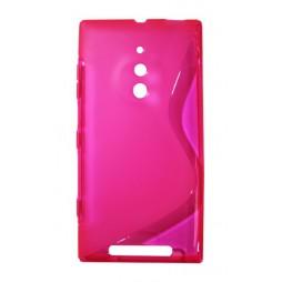 Nokia Lumia 830 - Gumiran ovitek (TPU) - roza-prosojen SLine