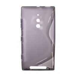 Nokia Lumia 830 - Gumiran ovitek (TPU) - sivo-prosojen SLine
