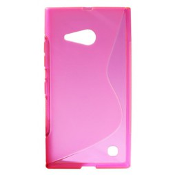 Nokia Lumia 735/730 - Gumiran ovitek (TPU) - roza-prosojen SLine