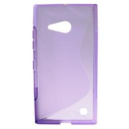 Nokia Lumia 735/730 - Gumiran ovitek (TPU) - vijolično-prosojen SLine