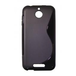 HTC Desire 510 - Gumiran ovitek (TPU) - črn SLine