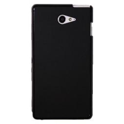 Sony Xperia M2 Aqua - Gumiran ovitek (TPU) - črn mat