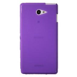 Sony Xperia M2 Aqua - Gumiran ovitek (TPU) - vijolično-prosojen mat