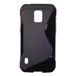 Samsung Galaxy S5 Active - Gumiran ovitek (TPU) - črn SLine