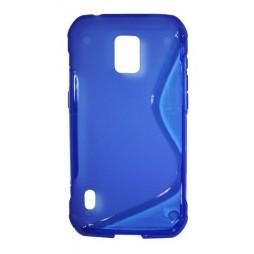 Samsung Galaxy S5 Active - Gumiran ovitek (TPU) - modro-prosojen SLine