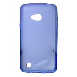 LG L50 - Gumiran ovitek (TPU) - modro-prosojen SLine