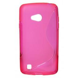 LG L50 - Gumiran ovitek (TPU) - roza-prosojen SLine