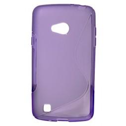 LG L50 - Gumiran ovitek (TPU) - vijolično-prosojen SLine