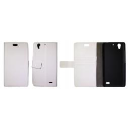 Huawei Ascend G630 - Preklopna torbica (WL) - bela