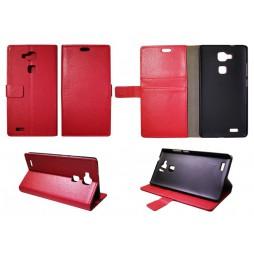 Huawei Mate 7 - Preklopna torbica (WL) - rdeča
