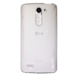 LG L Bello - Gumiran ovitek (TPU) - belo-prosojen SLine