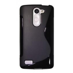 LG L Bello - Gumiran ovitek (TPU) - črn SLine