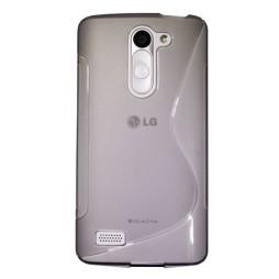 LG L Bello - Gumiran ovitek (TPU) - sivo-prosojen SLine