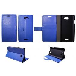 HTC Desire 516 - Preklopna torbica (WL) - modra