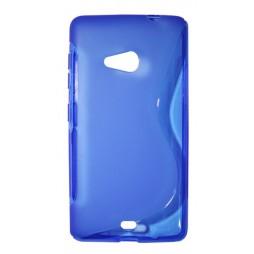 Microsoft Lumia 535 - Gumiran ovitek (TPU) - modro-prosojen SLine