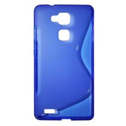 Huawei Mate 7 - Gumiran ovitek (TPU) - modro-prosojen SLine